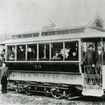 Image of P.2005.33.1231 - Photograph - Streetcars of Dayton, Ohio - Dayton & Soldiers' Home
