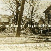 Image of P.2006.36.20 - Postcard - 1913 Flood - Dayton, OH - West Herman Ave., Riverdale, Mar. 25