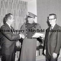 Image of P.2012.50.09807 - Negative, Film - Sheraton Dayton, Award Presentation to Doorman - December 13, 1966