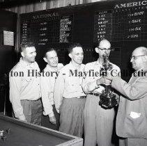 Image of P.2012.50.10756 - Negative, Film - Tom Tom Club - Bowling Champs - April 17, 1956