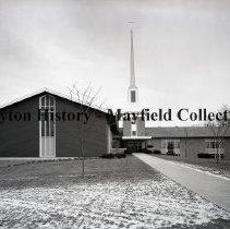 Image of P.2012.50.13630 - Negative, Film - Christ Methodist Church - Exterior - Shroyer Rd. - January 6, 1959
