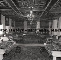 Image of P.2012.50.15381 - Negative, Nitrate Film - The lobby of the Biltmore Hotel, Dayton, Ohio in 1932