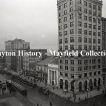 Image of Main St and Third St (looking north, east side of street) - Dayton, Ohio