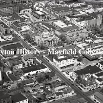 Image of P.2012.50.22943 - Negative, Film - Aerial view of Springfield, Ohio - August 25, 1949