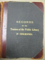 Image of Book - Records of the Trustees of the Public Library in Chelmsford