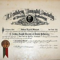 Image of L. Ashley Faught Certificate