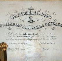 Image of Garretsonian Certificate