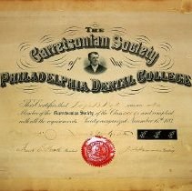 Image of Garretsonian Society Certificate given to Dr. Ralph B. Waite