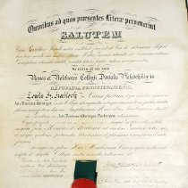 Image of 1966.201.1 - Certificate, Achievement