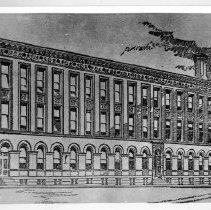 Image of Rendering of the Philadelphia Dental College