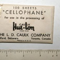 Image of FIC09.16.211 - Cellophane Sheets, Caulk Hue-lon