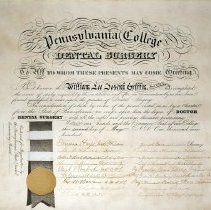 Image of William L. J. Griffin's Diploma