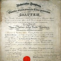 Image of Charles Barton Addie Diploma - 1912