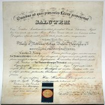 Image of Honorary Diploma presented to Carolus (sic. Charles) J. Essig