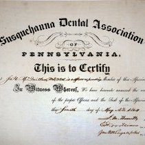 Image of FIC09.203.8 - Certificate, Achievement