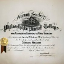 Image of Alumni certificate of Jacoby Rothner