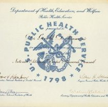 Image of Department of Helath, Education and Welfare certificate