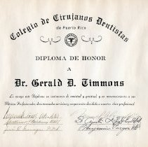 Image of Colegio de Cirujanos Dentistas certificate