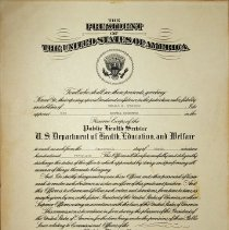 Image of US Department of Health, Education and Welfare certificate