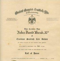 Image of FIC10.201.3 - Certificate, Membership