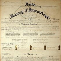 Image of Charter of the Academy of Stomatology