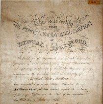 Image of FIC10.206.1 - Certificate, Membership