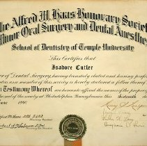 Image of Alfred M. Haas Certificate