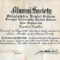 Image of FIC10.207.5 - Certificate, Membership