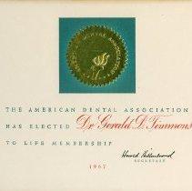 Image of American Dental Association Certificate