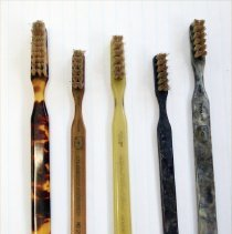 Image of FIC10.4.88 - Toothbrushes, Early Plastic Handle