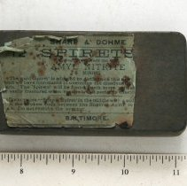 """Image of Amyl Nitrite 'Spirets,"""" Exterior of Packaging Tin"""