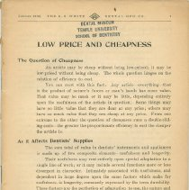 Image of S.S. White Dental Supply Catalog: Low Price and Cheapness