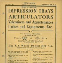 Image of FIC11.6.34 - Catalog, Dental Supply