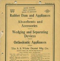 Image of FIC11.6.45 - Catalog, Dental Supply