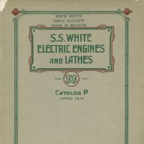 Image of S.S. White Dental Supply Catalog: S.S. White Electric Engines