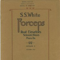 Image of S.S. White Dental Supply Catalog: S.S. White Forceps, Root Elevators, Sciss
