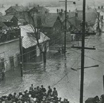 Image of 1913 Flood on East Winter Street - Delaware - Mar 1913
