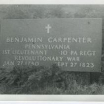 Image of Benjamin Carpenter grave marker