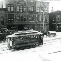 Image of Delaware Trolley Company Dinky Car on North Sandusky Street                                                                                                                                                          -