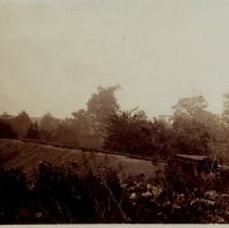 Image of Railroad Tracks & Ties, believed to be on east side of Delaware near Delaware Clay Company -