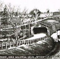 Image of Covered Bridge near Girls Industrial home, Rathbone