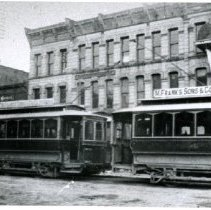 Image of Street scene 4-12 North Sandusky Street (east side) early 1900's -