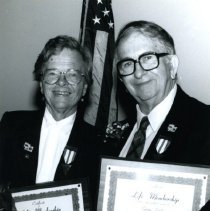 Image of George and Marilyn Cryder, Life Membership D.C.G.S. - 10/14/1995