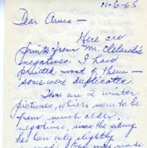 Image of Letter between Gailand Sprang and Anna Pabst