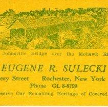 Image of Eugene Sulecki business card