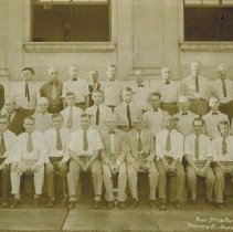 Image of Delaware, Ohio post office force - Sept. 1 1931
