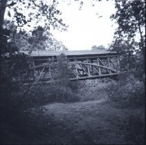 Image of Yankee Street Covered Bridge deconstructed -