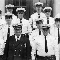 Image of 15 policemen posing for group picture 1971                                                                                                                                                                                                                 - 1971