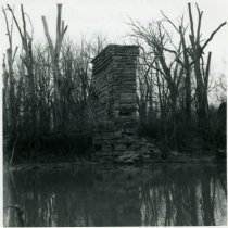 Image of Abandoned railroad abutment near Kilbourne - March 1964
