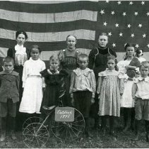 Image of 1898 Panhandle School class photograph.